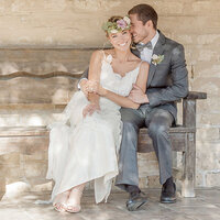 Photo of Newlywed Couple at Santa Barbara Historic Museum