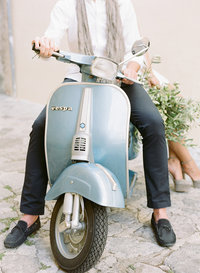 Italy Wedding on a Vespa