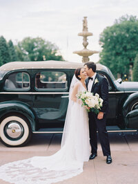 Broadmoor Wedding Car Bride and Groom