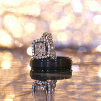 wedding rings being filmed for wedding video