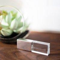 Crystal and chrome flash drive for your digital photo negatives