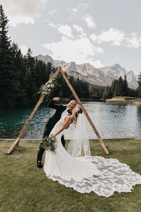 Canmore Alberta Wedding Ceremony at Canmore Golf and Curling Club by Moments by Madeleine