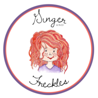 Ginger & Freckles - Logo Design with Words