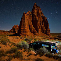 Spending the night next to Temple of the Moon in Capitol Reef National Park.
