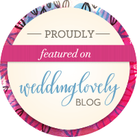 Proudly Featured on Wedding Lovely