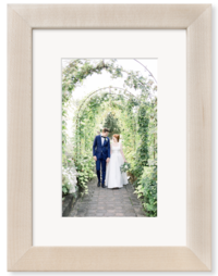 Natural Wood Matted Frame