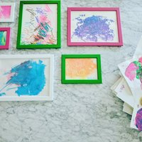 Bright frames for children's artwork
