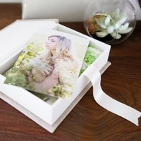 Photographic prints in an elegant linen proof box