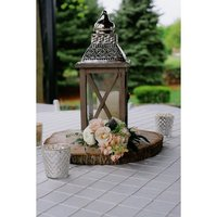 Wood_Square_Lantern_with_Silver_Pierced_Metal_Top_and_Stained_Wood_Finish_Set_of_4