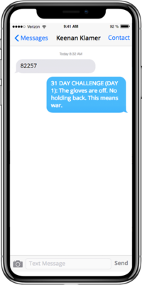 31 Day Challenge iPhone