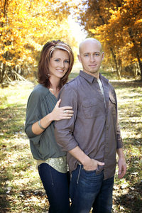 Couple in wooded area of Montana