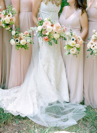 Aspen wedding bridesmaids bouquets