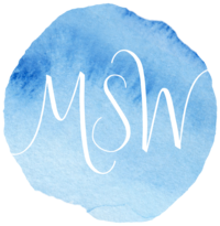 Monogram MSW White + Watercolor