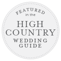 high country wedding guide badge