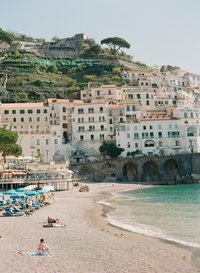 Amalfi Coast Beach in spring