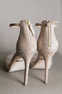 Champagne Bridal Shoes for Wedding Day