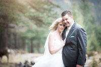 Chantel Jeremy Banff Whimsical Forest Wedding