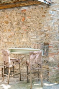 The patio at Casa Fiore, self-catering holiday home in Tuscany.