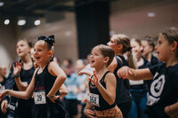 Female performers having fun at dance convention in Dallas