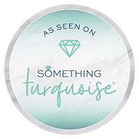 something turquoise feature badge