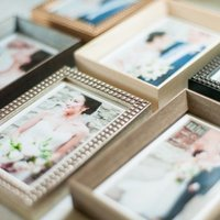 Elegant wooden frame options for displaying printed portraits