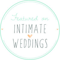 Intimate Weddings badge round