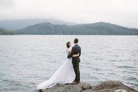 lake wedding in Sitka Alaska