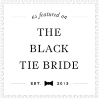 Black Tie Bride White