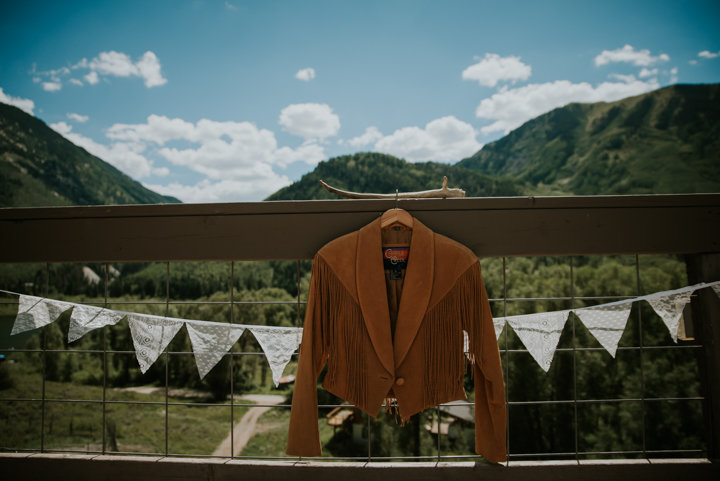 Marble Lodge on Beaver Lake Retreat Campus, marble colorado elopement photographers, brides leather jacket, marble colorado wedding, destination elopement photographers, destination elopement photographer, destination wedding photography, mountain wedding, colorado wedding
