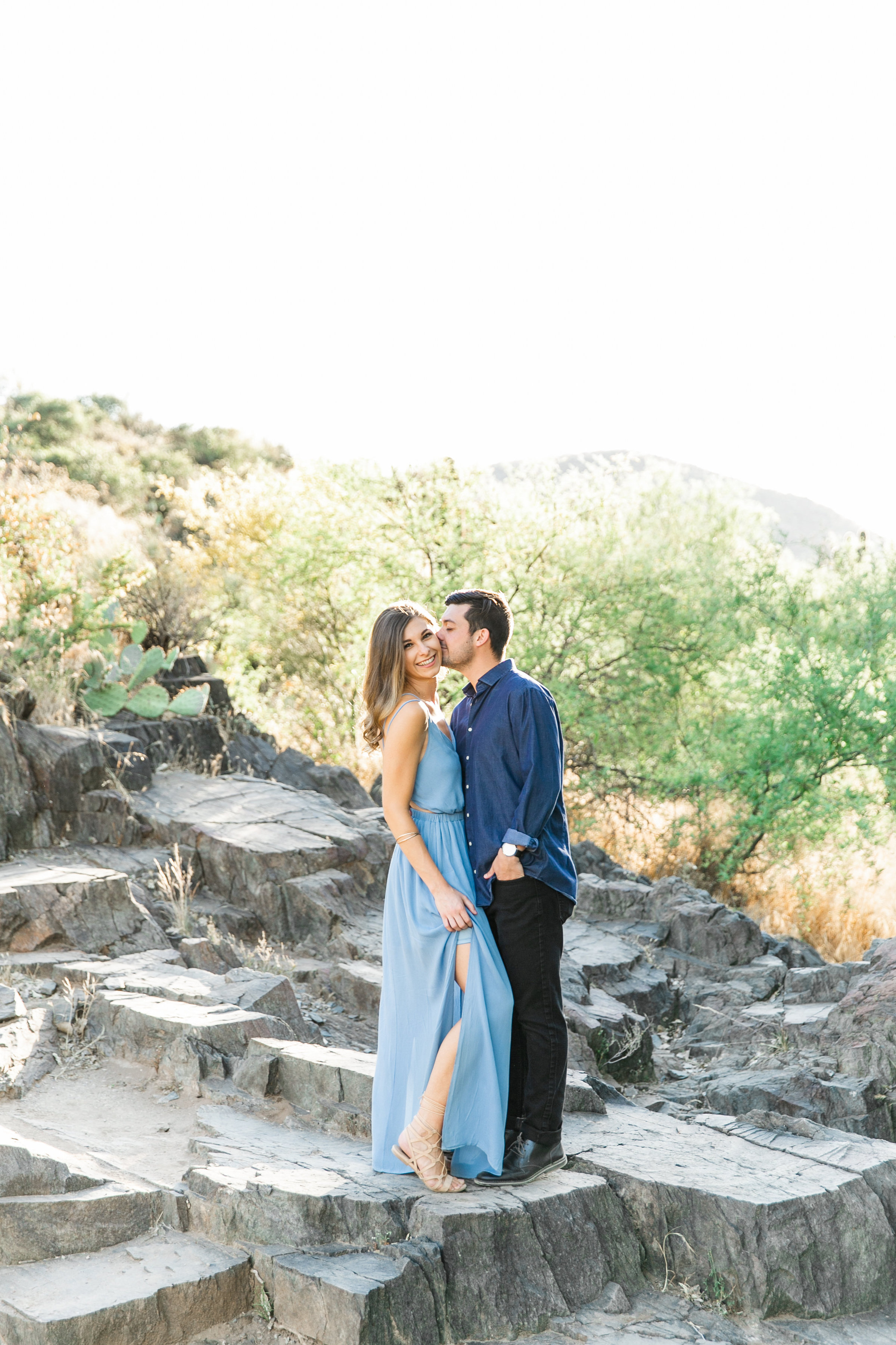Karlie Colleen Photography - Arizona Desert Engagement - Brynne & Josh -4