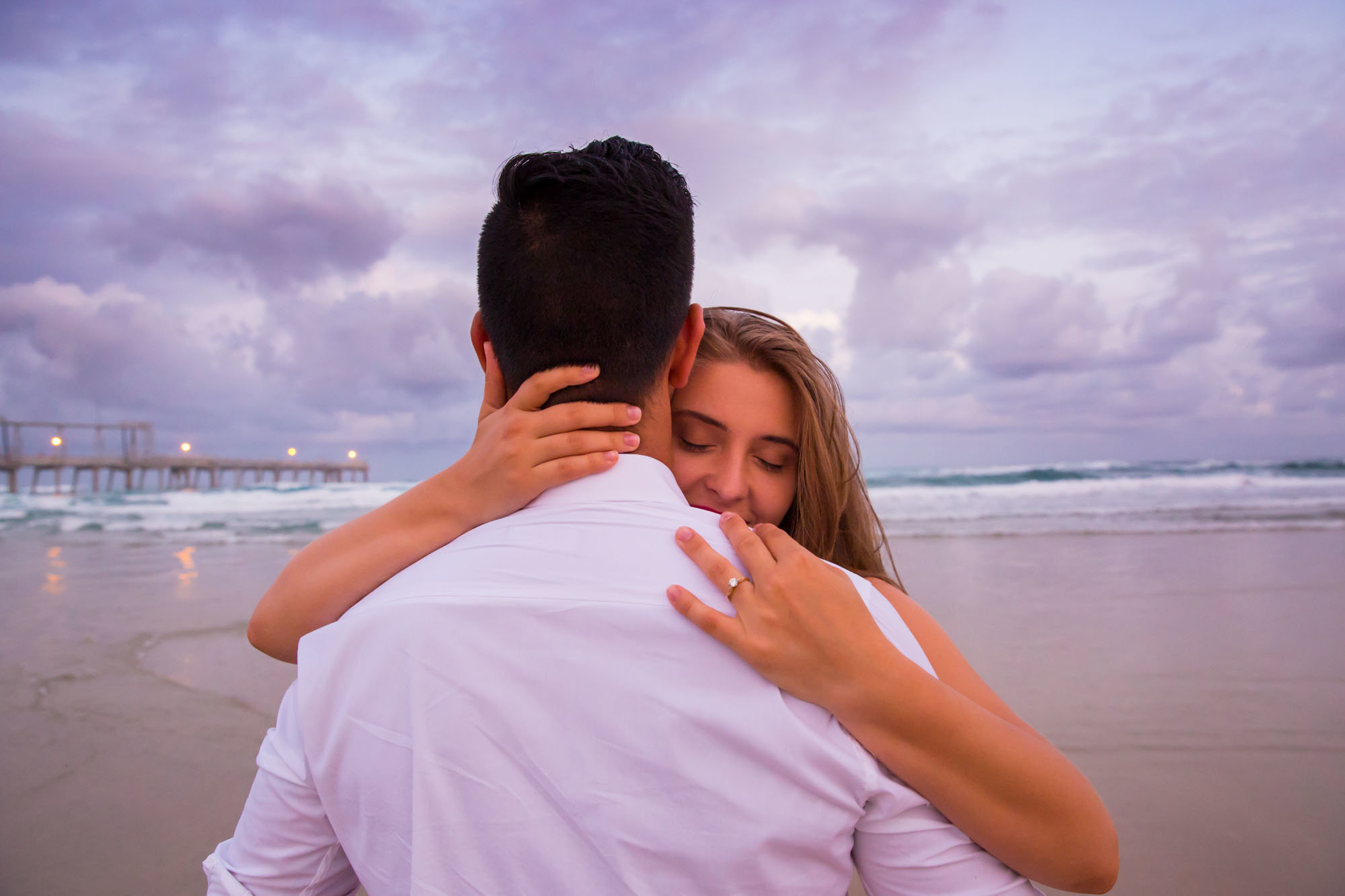 Sunset Gold Coast Engagement Session Photographer Anna Osetroff