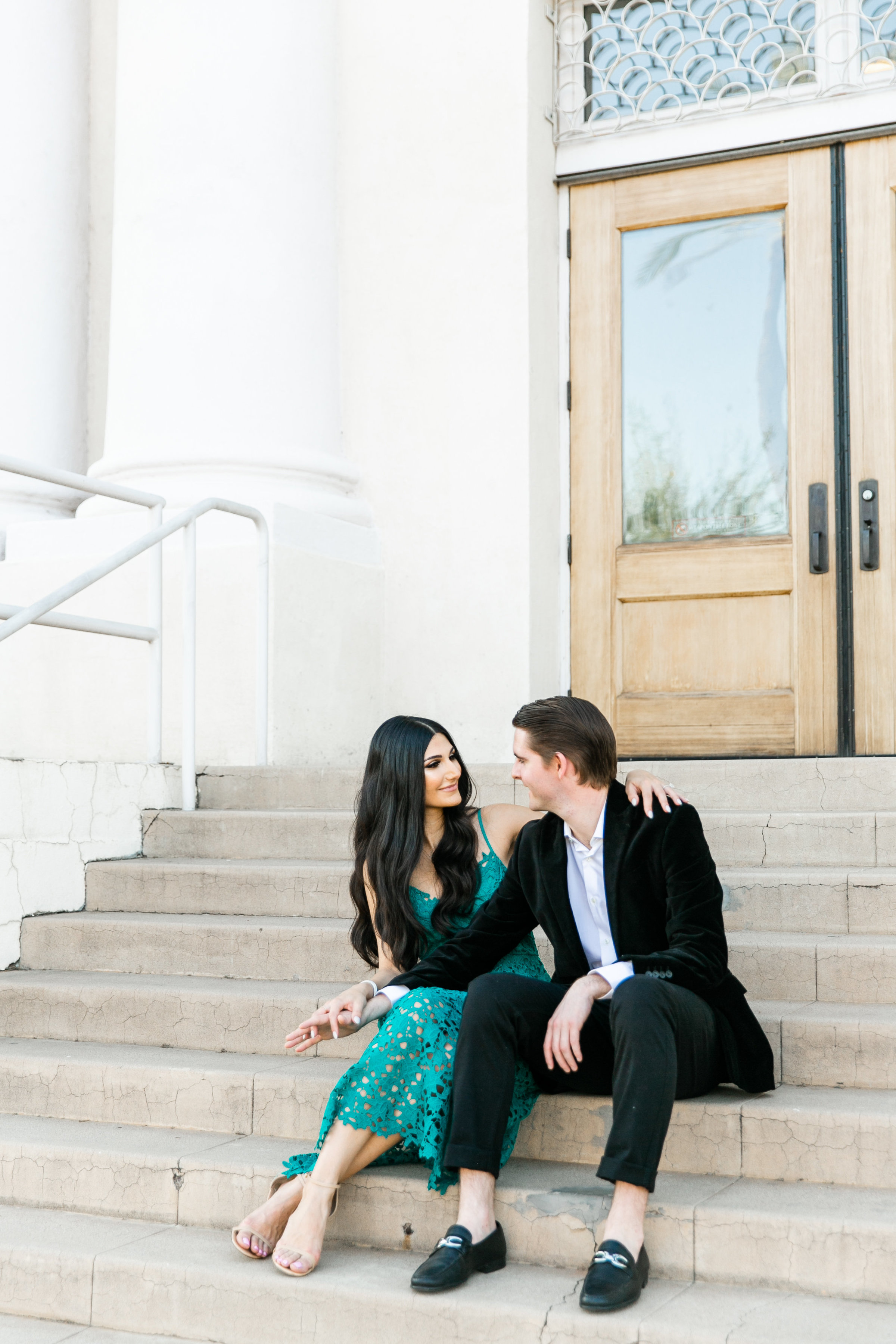Karlie Colleen Photography - Arizona Engagement City Shoot - Kim & Tim-153