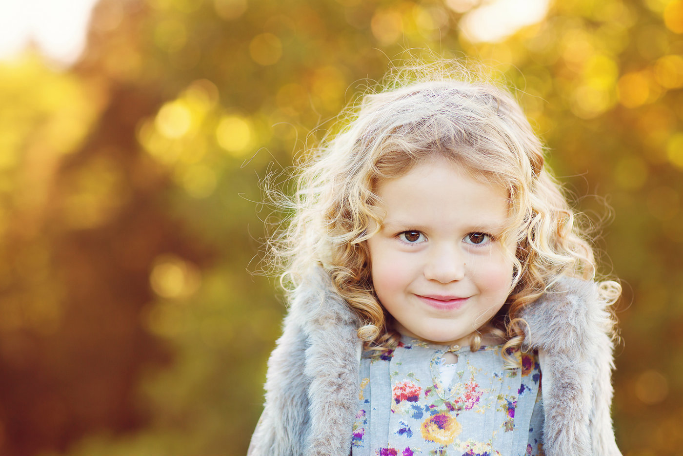 little girl portrait autumn