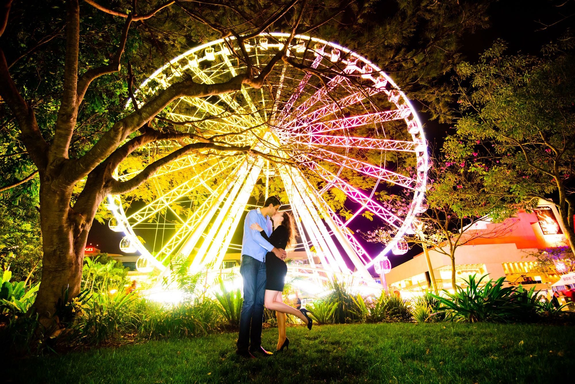Night South Bank Brisbane Proposal Photographer Anna Osetroff