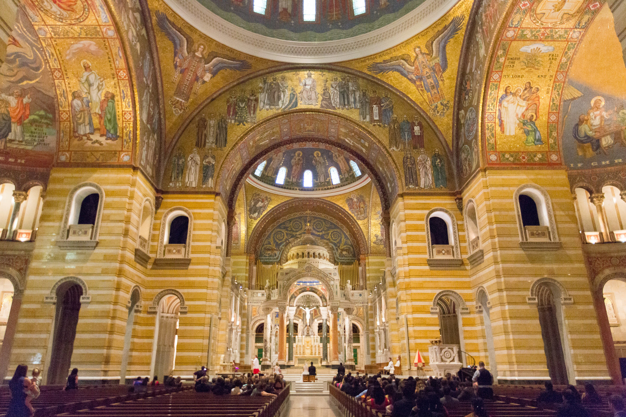 Cathedral Basilica Wedding ceremony