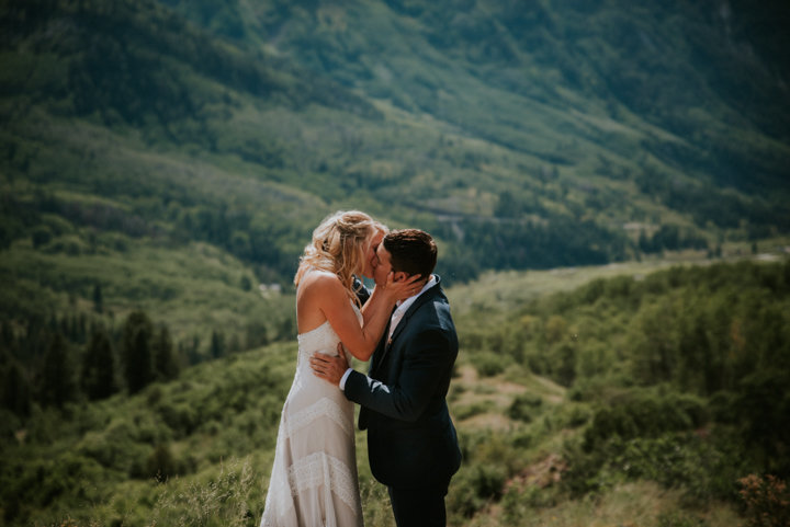 cliff wedding photographer, marble colorado first look, Marble Lodge on Beaver Lake Retreat Campus
