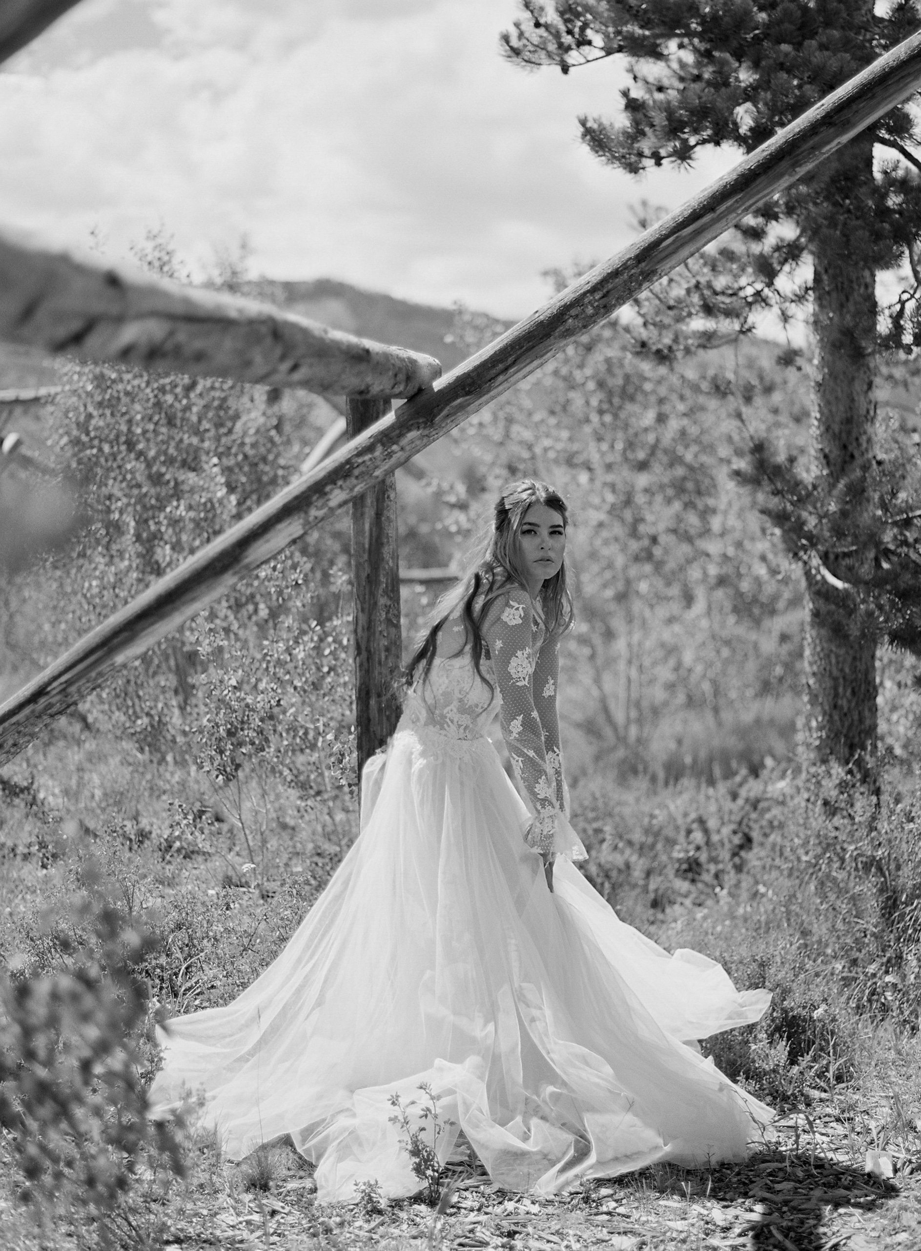 Bride at C Lazy U Ranch Wedding