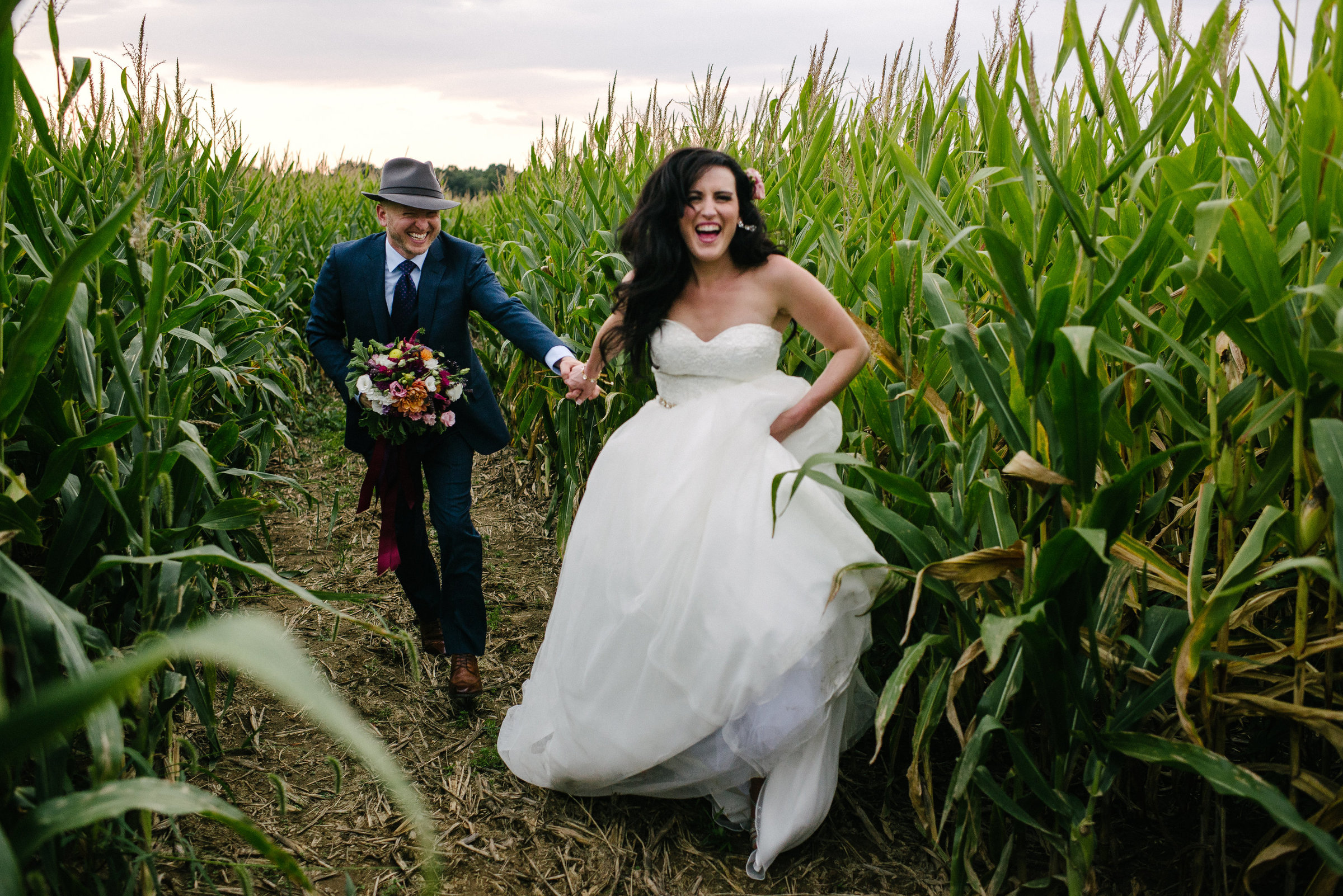 New Waterford OH corn maze wedding