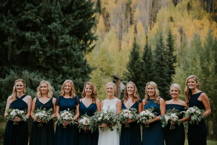 bridesmaids navy blue vail colorado