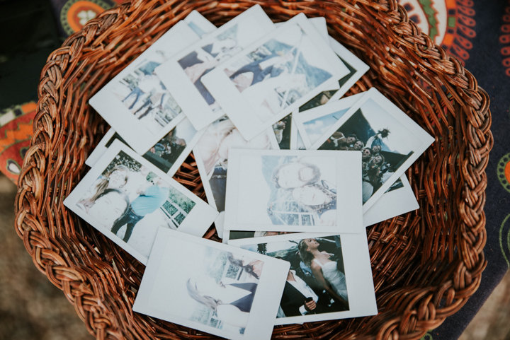 polaroids, reception photography, guest photographs, details of reception, outdoor mountain wedding, mountain wedding photographers, mountain wedding photography, colorado wedding photography, colorado elopement photographers, destination elopement photographers,  colorado wedding reception details