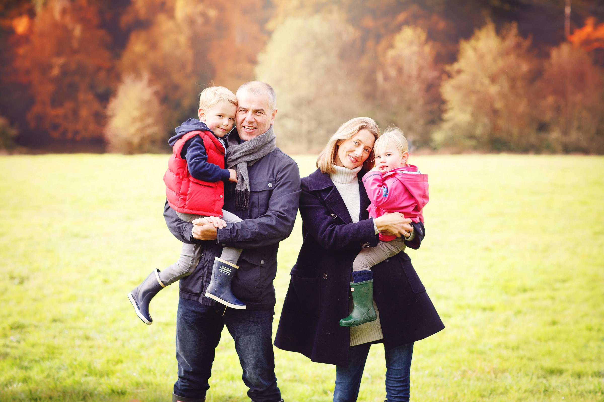 family photo session autumn