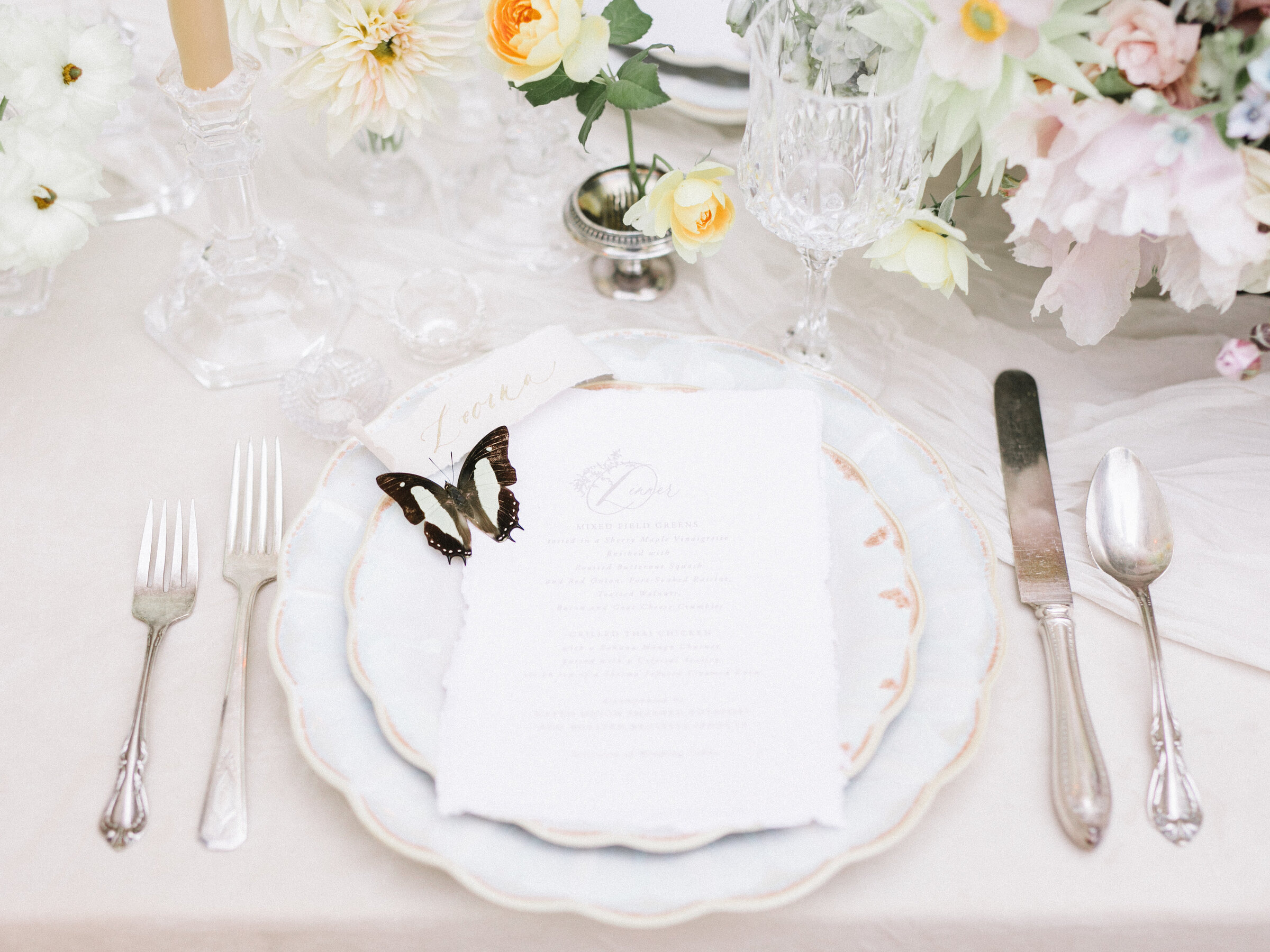 Swan House Wedding Place Setting in Atlanta, Georgia