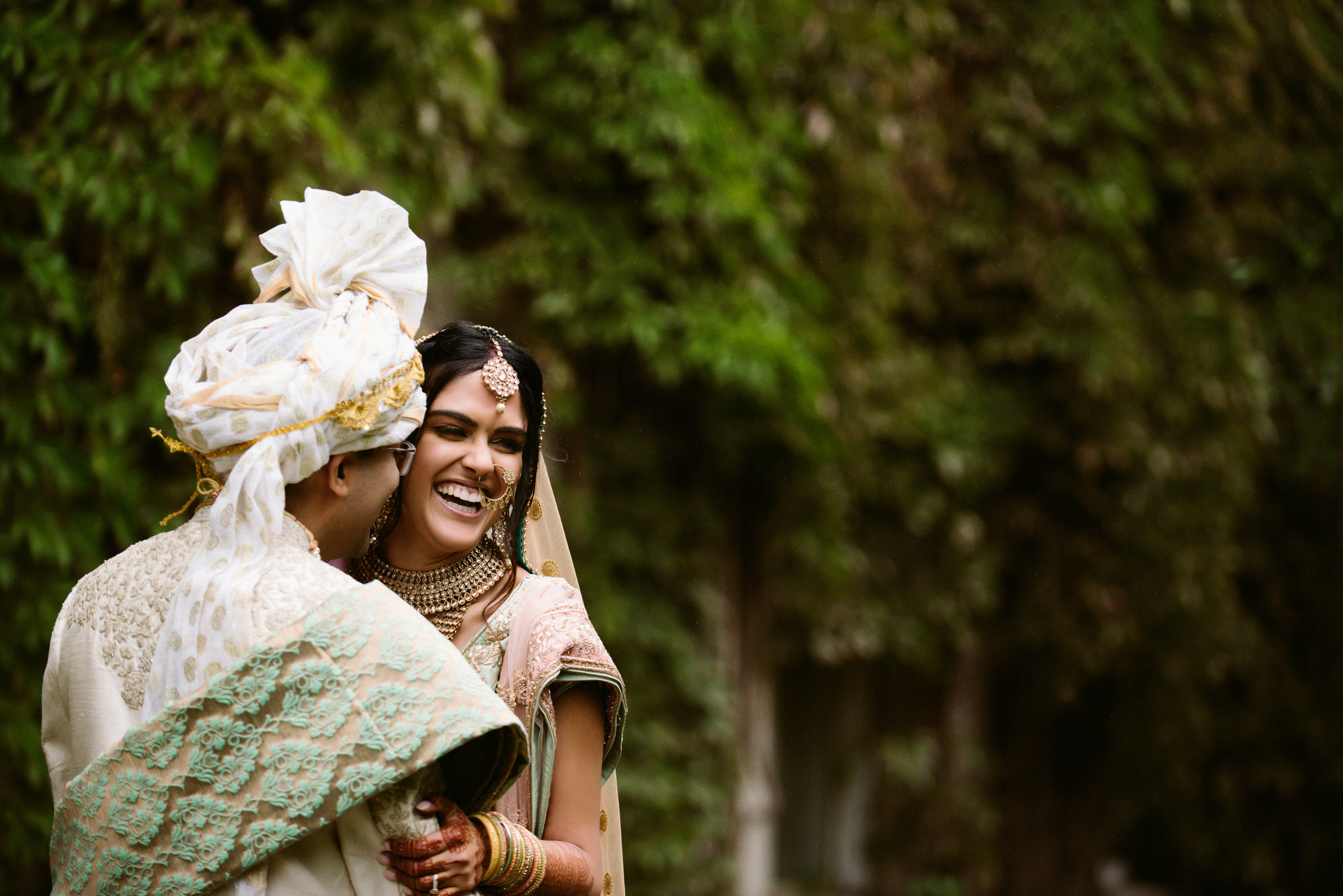 Indian Bride and Groom at the University of Alberta