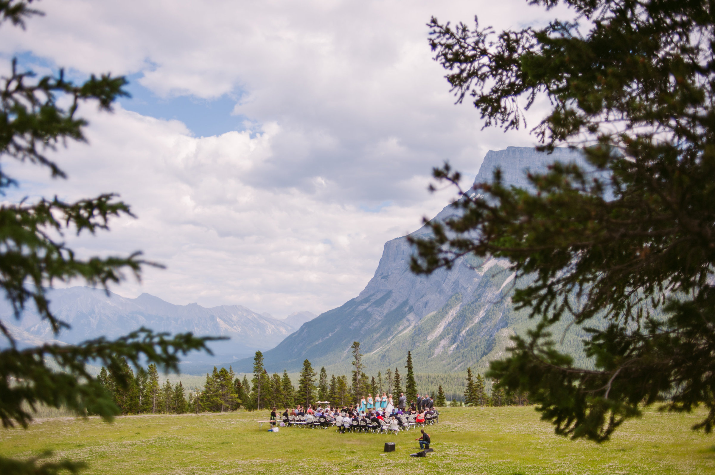 Wedding Ceremony at Tunnel Mountain in Banff