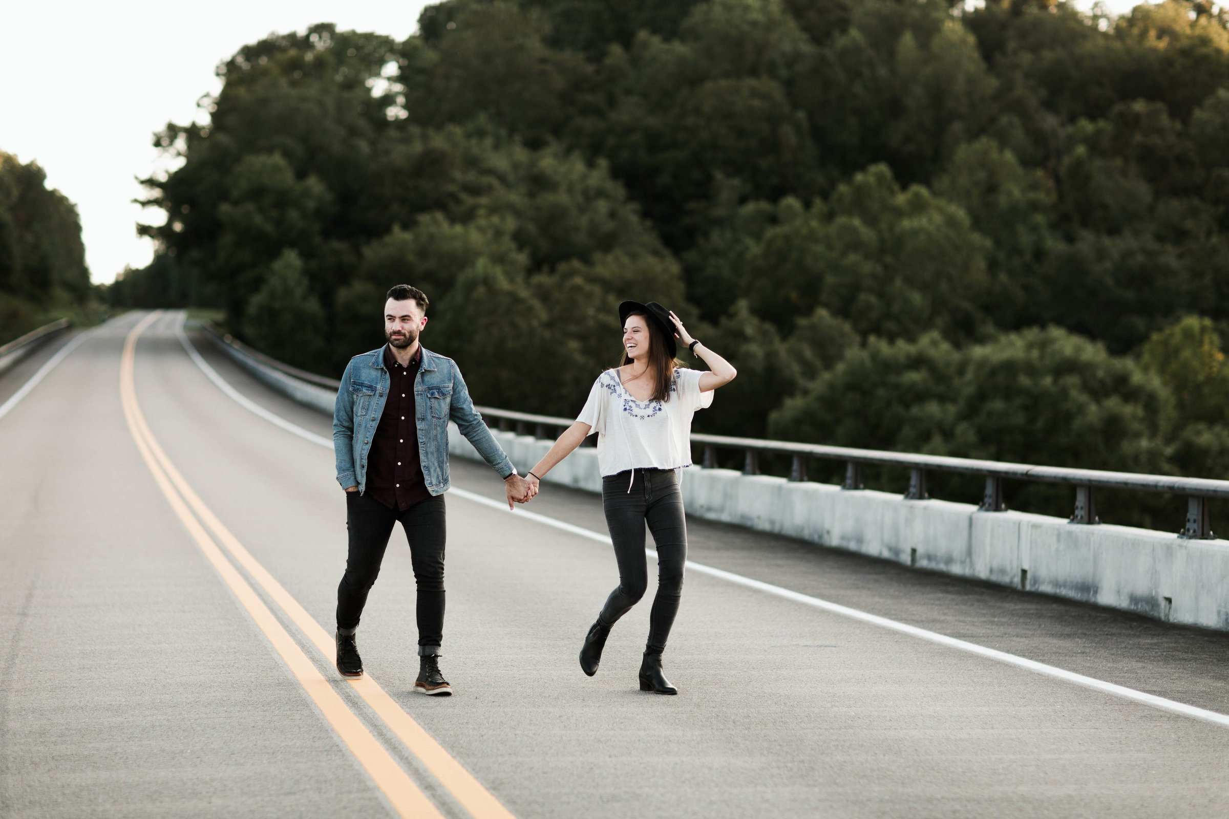 Nashville Engagement Photography Natchez Trace Bridge Nashville TN