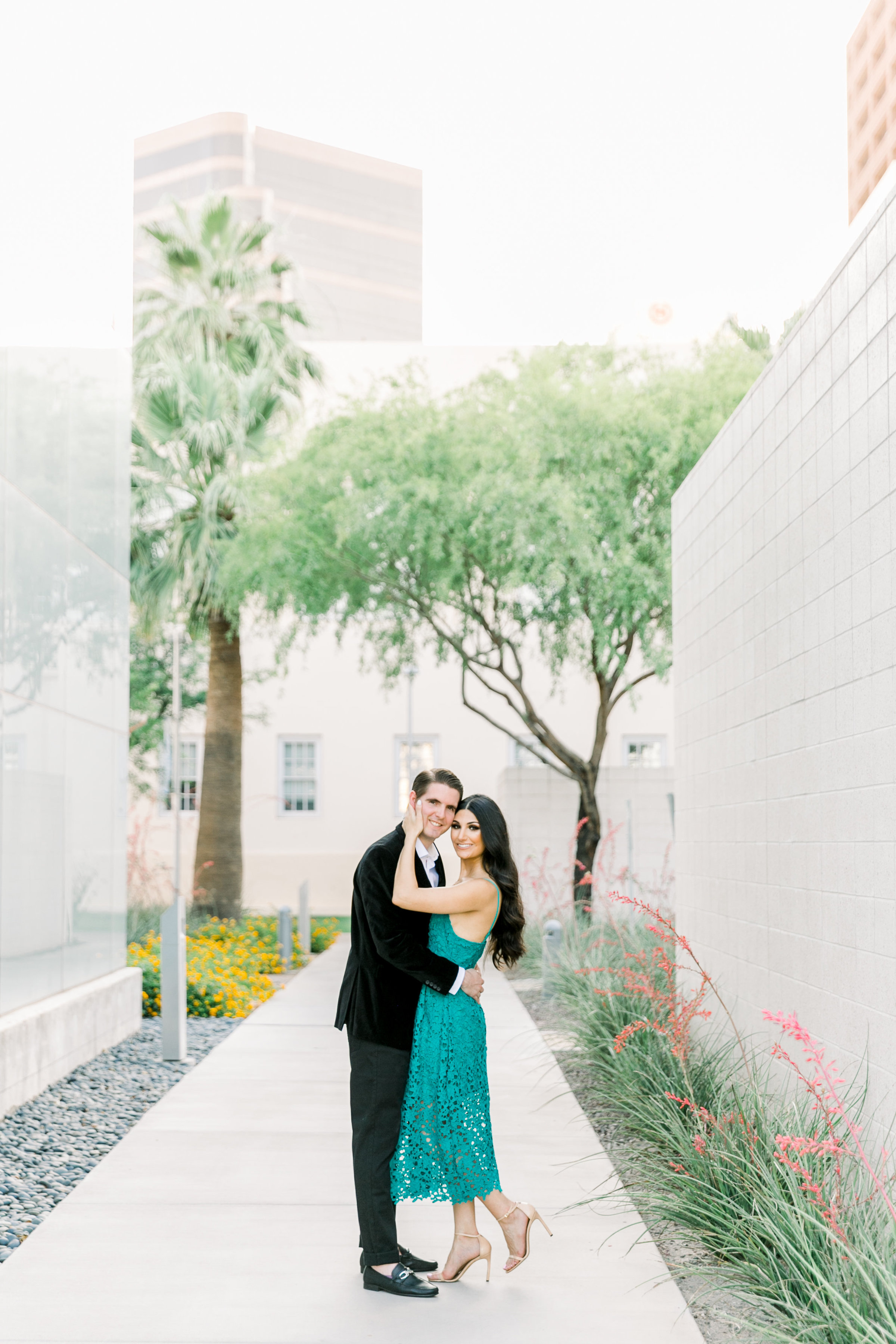 Karlie Colleen Photography - Arizona Engagement City Shoot - Kim & Tim-93