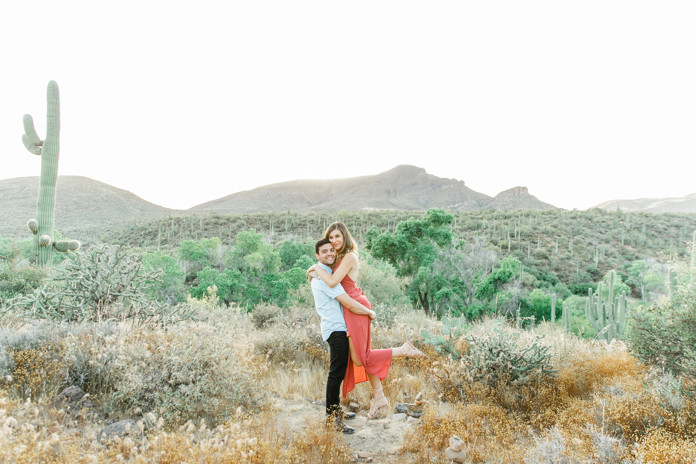 Karlie Colleen Photography - Arizona Desert Engagement - Brynne & Josh -174
