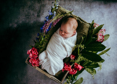 rootedandwildphotography_bremerton_newborn_photography_with_flowers