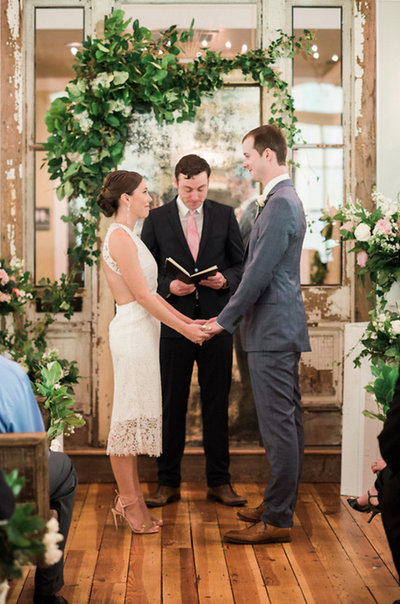 Wedding Ceremony at The Parlour venue, Chapel Hill, North Carolina