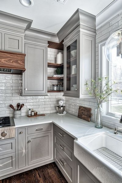 kitchen sink farmhouse sink Interior design decor architectural finishes cabinetry hardware faucet plumbing fixtures selections